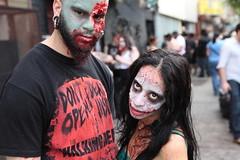 NYC Zombie Crawl (jamie nyc) Tags: newyorkcity brooklyn cosplay dressup flashmob reanimation kostumekult reanimated walkingdead costumeplay newyorkmagazine nymag theundead zombiesattack nyczombiecrawl photobyjimkiernan thewalkingundead ghostsspiritsghouls bloodgutsgore feastingonbrains zombiesatemyflesh