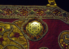 Coronation Mantle, detail of shoulder plate