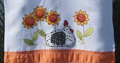 GALINHA COM GIRASSOL (ARTS.COM) Tags: de galinha pano em aplique personalizado patc pratopano patchworkpano