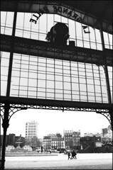City views #1 (Zillicons) Tags: lighting street leica old city light shadow people urban blackandwhite bw paris france texture film geometric lines silhouette wall clouds composition contrast 35mm photography town blackwhite construction perfect pattern shadows view place angle graphic artistic time noiretblanc walk watch great under thecity style atmosphere scene tourists structure nb pointofview story vision illusion printing frame instant strong exit capture juxtaposition passage decor visitor tones minox oldest imprint villette pana cityviews urbain ambiance melancoly argentic lightful zillicons