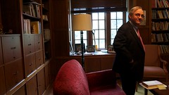 E.J. Dionne in Tim's office