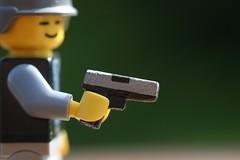 Glock G17 Stainless (Waffeli) Tags: army lego weapon pistol 17 custom stainless glock g17 brickarms