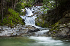 Upper Brandy Creek Falls (Reaching Out) (Eric Leslie) Tags: bridge water creek landscape waterfall moss brandycreekfalls