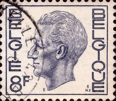 Belgium 8F Stamp (stompstompstamps) Tags: blue white grey europe european mail belgium belgique belgie head stamps gray 8 stamp f belgian postage postagestamp 8f stampcollectors