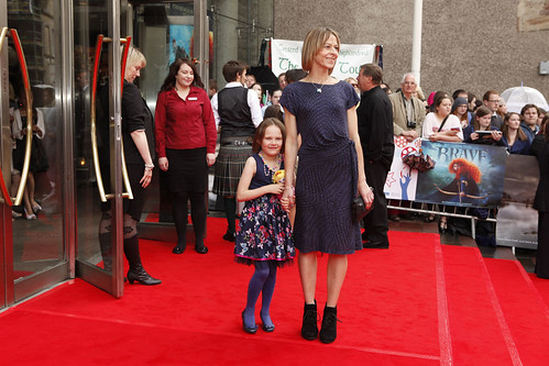 Kate Dickie and her daughter Molly on the red carpet for the European premiere of Brave at the Festival Theatre