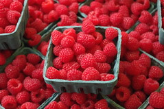 Fresh Red Raspberries (David J. Greer) Tags: seattle red fruit washington berry place market fresh raspberry pike