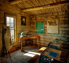 school is out (Merilee Phillips) Tags: west nikon searchthebest classroom western wyoming cody sincity 1884 oneroomschoolhouse oldtrailtown tatot magicunicornmasterpiece coffinschool d700historic