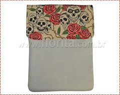 REF. 0183/2012 - Case para Notebook Caveira (.: Florita :.) Tags: notebook caveira netbook ipad caveirinha capanotebook bolsaflorita bolsanotebook caseipad casecaveirinha bolsacasenoteenetbook bolsanetbook casenotebookemtecido caseemtecido
