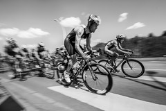 Blazing a Trail (Braeden Petruk) Tags: summer blackandwhite bw man men guy monochrome bike bicycle race training goal energy exercise competition guys triathlon willpower greyscale odc ourdailychallenge