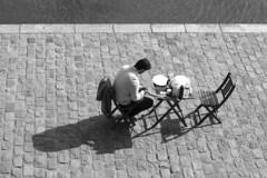 L'attente ou l'absente - Bords de Seine Paris (Remy Carteret) Tags: paris noir et blanc seine attente attendre absence absente homme seul blackandwhite noiretblanc canon 5d mkii mk2 markii france eos quais quai déjeuner dejeuner picnique pavés pavé remycarteret rémycarteret nb blancblack white bw blackwhite humansofparis parisien parisienne parisiens parisiennes streetlife humains human canon5dmarkii canon5dmark2 canoneos5dmarkii canoneos5dmark2 5dmark2 5dmarkii mark2 canon5d