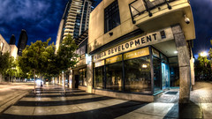Bosa Development (Justin in SD) Tags: street city night marina canon dark lights office downtown cityscape sandiego stripes stripe sidewalk developer gaslamp midnight highrise canon5d bluehour development bosa hdr citynight colorefex nikcolorefex canon5dmarkiii 5d3 5dmark3