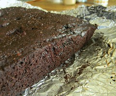 Roasted Cherry Brownies with Black Fudge Frosting (jazzijava) Tags: cooking fruit recipe dessert baking vegan beans cherries bars berries sweet chocolate rich seed sugar chia delicious homemade