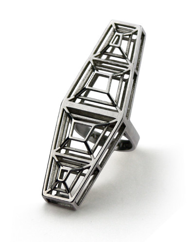Caged Coffin Ring