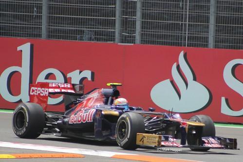 Jean-Eric Vergne in his Toro Rosso F1 car at the 2012 European Grand Prix at Valencia