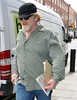 Brendan Gleeson sports a beard, baseball cap and sunglasses whilst walking through the town centre of Dublin Dublin, Ireland
