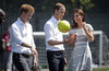 .Prince William, Catherine, Duchess of Cambridge aka Kate Middleton with Prince Harry visit Bacon's college in Rotherhithe in London to launch the Coach core programme a partnership between their foundation and the sports charity Greenhouse. The three saw different sports being coached to local children and took part in some of the training