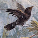 Painted Garden, Villa of Livia, detail with blackbird