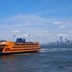 Skyline of South Manhattan and Staten Island ferry (New York, USA 2012) thumbnail