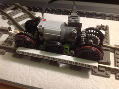 More Torque?? (1) (M_slug357) Tags: pf power functions powerfunctions lego locomotive steam skeleton battery moc idea engine gears train motor frame technic wip