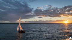 Sail Away (patviau) Tags: sunset water sailing boat sky clouds river ottawa