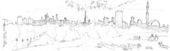 London, skyline from Primrose Hill (Croctoo) Tags: croctoo croctoofr croquis crayon london primrose hill primrosehill skyline