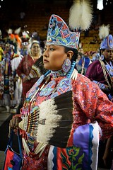 red w crown copy (queenbeaphoto@att.net) Tags: bymelissafrybeasley regalia dancer nativeamerican iicotpowwowofchampions 2016 ndn tradition culture fan feathers beadwork redblue shawl grandentry tulsaoklahomaphotographers