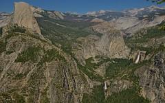 Half Dome, Vernal Falls, Nevada Falls (Shijo Joy) Tags: falls halfdome vernalfalls nevadafalls yosemite glacierview
