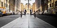 Casual Wear (Sean Batten) Tags: london england unitedkingdom gb nikon df 35mm streetphotography street reflection stpauls jacket man city urban pavement road van