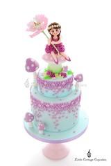 My girl's 7th Birthday Fairy Cake (Little Cottage Cupcakes) Tags: littlecottagecupcakes birthday cake birthdaycake fairycake fairy fairies flower flowerfairy peony sugarart toadstools pastel wisteria sugarpaste ruffles magical tieredcake