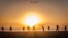 Rugger Sunset (Chiara Salvadori) Tags: campsbay capepeninsula capetown southafrica tablemountain africa atlantic sudafrica beach colors football light match men ocean outdoor people rugby sea seascape spring sun sundown sunset training travel traveling water winter