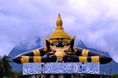 Demon of Chiang Dao (catlydy) Tags: thailand chiangdao chiangmai temple wat buddhism buddhist demon mountain