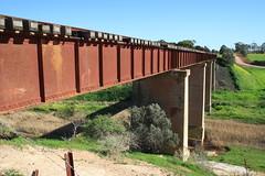 Rail bridge over the Gilbert (Runabout63) Tags: railway gilbert river hamleybridge bridge