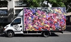 Stesi (HBA_JIJO) Tags: streetart urban graffiti paris art france hbajijo painting camion abstrait peinture vehicule van stesi spray abstract abstraction truck