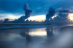 Pensacola Beach HDR (Born Coqui) Tags: hdr photoshop canon pensacola florida sunset beach sea side gulf mexico dredging pensacolabeach boat waves 6d sigma art 35mm