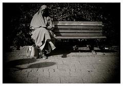 """Alone..."" (iEagle2) Tags: blackandwhite blackwhite bw ep2 female frau femme olympusep2 olympuspen streetphotography sweden summer trollhttan woman"