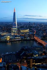 The Shard and London Bridge (Nigel Blake, 13 MILLION...Yay! Many thanks!) Tags: shard london bridge theshard londonbridge thames dusk night bluehour nigelblakephotography nigelblake skygarden high view point city uk