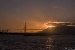 Sunset at Golden Gate Bridge (Joy Forever) Tags: sun goldengate goldengatebridge sanfrancisco california sky evening sunset silhouette