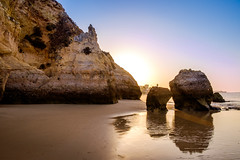 Kissing Rocks (D.ROS) Tags: 2016 beach blue cliff landscape light magenta nature orange plants portimao portugal praiadovau rocks sand seayellow sun sunrise sunset water white supershot