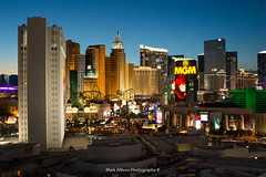 Las Vegas at Dusk (Mark_Aviation) Tags: las vegas nevada nv stratosphere tropicana hotel city scenery photography holiday august 2016 the strip