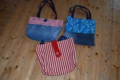 2014_taschen1 (Two_tango) Tags: sewing crafting nhen cotton shopper tote taschen einkaufstaschen denim upcycling