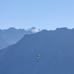 paragliding Swiss Alps (MattLawrence) Tags: paraglide alps switzerland verbier valais paragliding