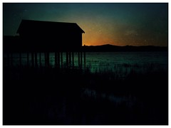 End of the Day  #California #LakeTahoe #Tahoe #sunset #dark #boathouse #drought #dark #endoftheday #water #orange #blue #black (word problem) Tags: california laketahoe tahoe sunset dark boathouse drought endoftheday water orange blue black