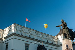 DSC_8554 (Adrian Royle) Tags: lithuania vilnius travel holiday city urban street cathedral palace sky people architecture hotairballoons