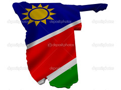 Flag and map of Namibia (mucciniale@gmail.com) Tags: 3d africa artwork background banner beating chart commonwealth country emblem flag geography graphic illustration image independent land map namibia nation national native object paraphernalia patriotism planet political politics presentation republic sacred standard state symbol symbolism thing universe white wind world