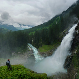 Breathing  the ambient air of the Krimml waterfall