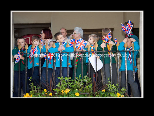 Local children wait to meet Her Majesty The Queen at Windsor Guildhall-83