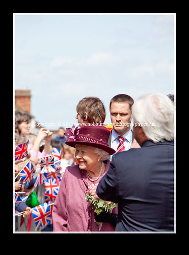 Local residents meet Her Majesty The Queen at Windsor Guildhall-108