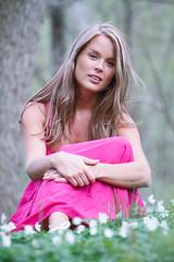 Susanna (xibalbax) Tags: flowers woman girl canon dof dress portait 7d woodanemone ef70200mmf4lusm canoneos7d