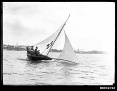 10 footer on Sydney Harbour displaying cross-shaped ensign (Australian National Maritime Museum on The Commons) Tags: sailboat boats harbor boat sailing harbour sydney sails sailors australia sail sailor sydneyharbor sydneyharbour sailingboat vintagephotograph sailingvessel harbourscenes vintagepictures williamhall williamjhall williamhallcollection williamjhallcollection