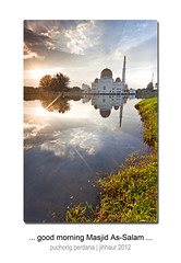 Sunrise at Masjid As-Salam (jihhaur) Tags: sunrise landscape dawn mosque assalam jihhaur purchong